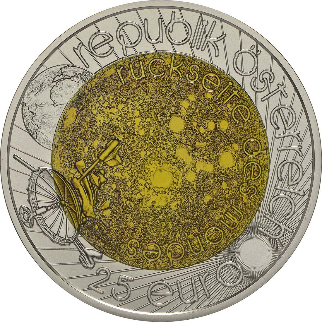 Rückseite :Österreich : 25 Euro Jahr der Astronomie  2009 Stgl. 25 Euro Niob 2009; 25 Euro Astronomie 2009