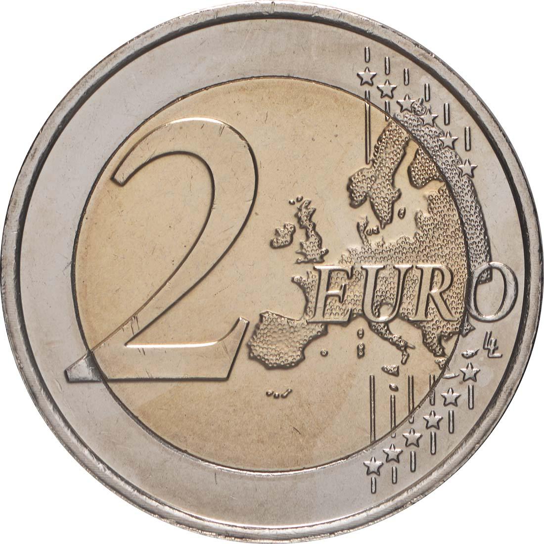 Vorderseite:Niederlande : 2 Euro 10 Jahre Euro  2009 bfr
