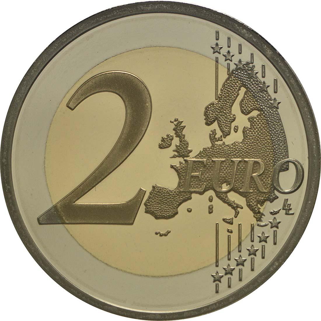 Vorderseite:Monaco : 2 Euro Albert II.  2010 PP