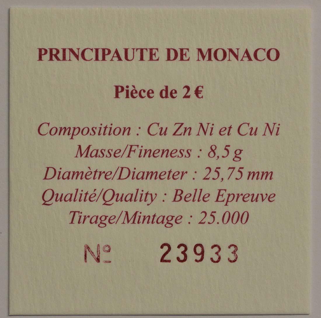 Zertifikat:Monaco : 2 Euro Albert II.  2010 PP