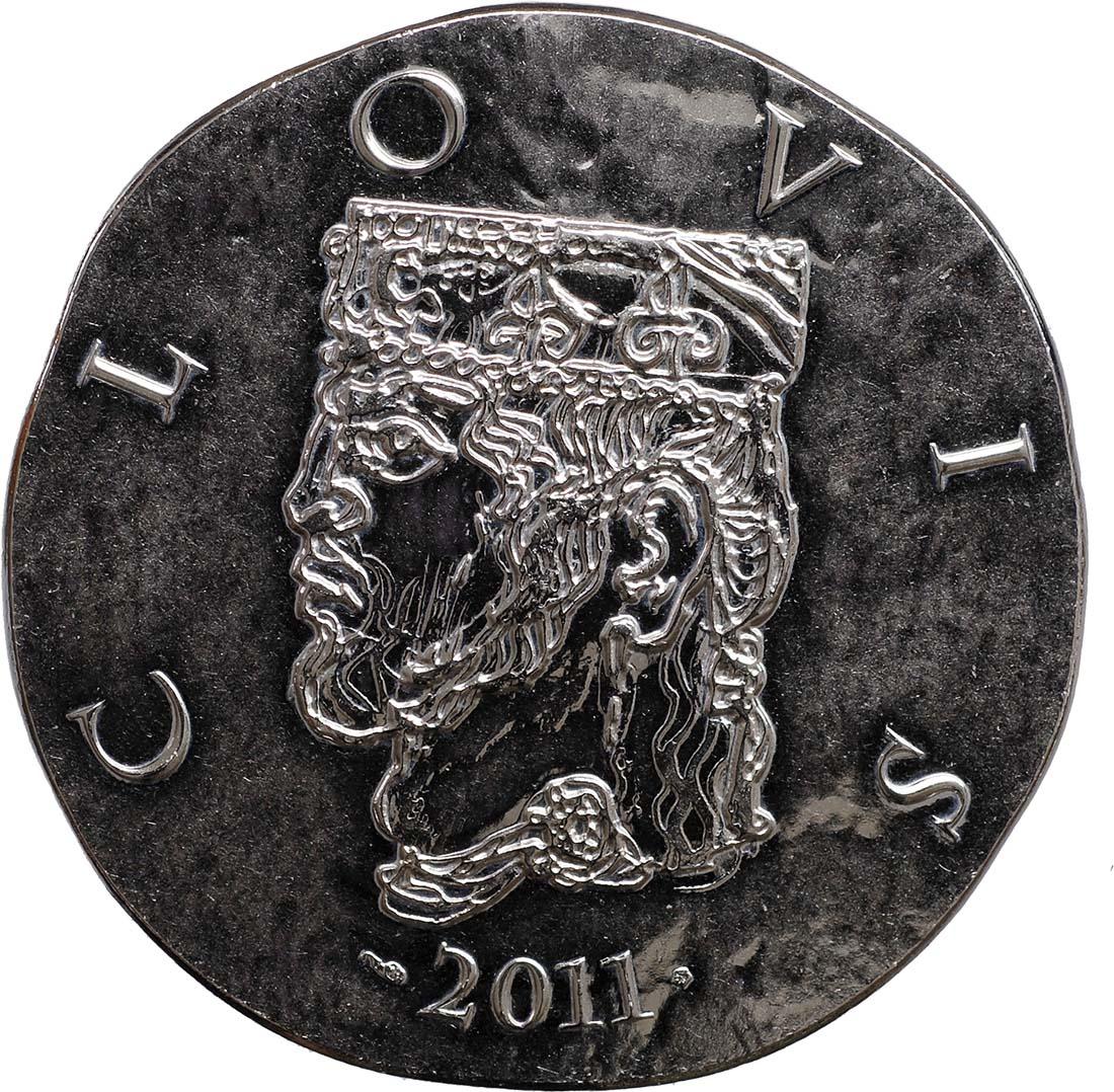 Vorderseite:Frankreich : 10 Euro Clovis  2011 Stgl.
