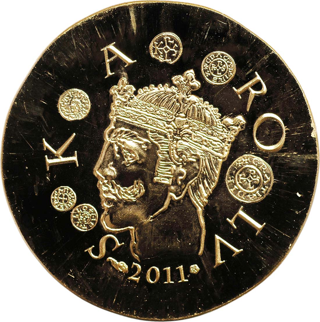 Rückseite:Frankreich : 50 Euro Karl der Kahle  2011 Stgl.