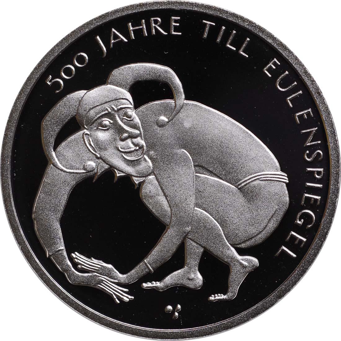 Deutschland 10 Euro 500 Jahre Till Eulenspiegel 2011 D Silber Pp