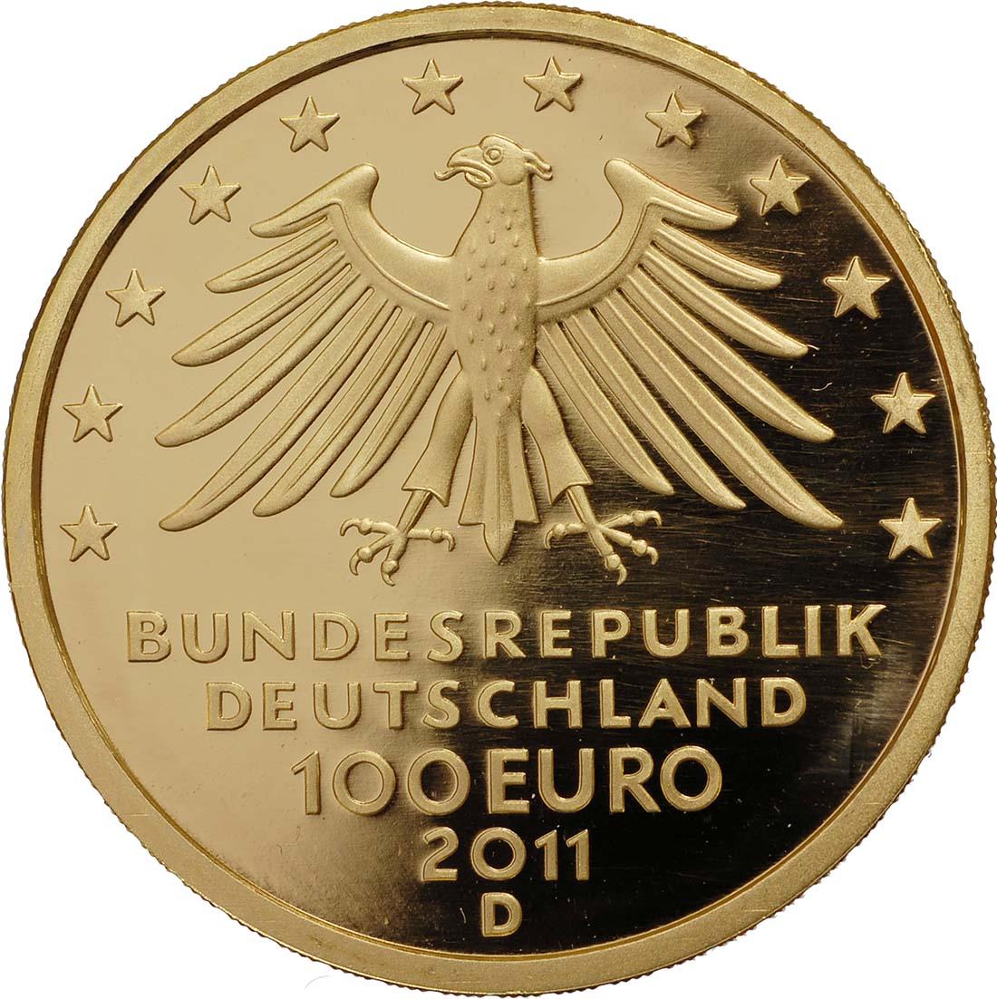 Rückseite:Deutschland : 100 Euro Wartburg bei Eisenach  2011 Stgl.