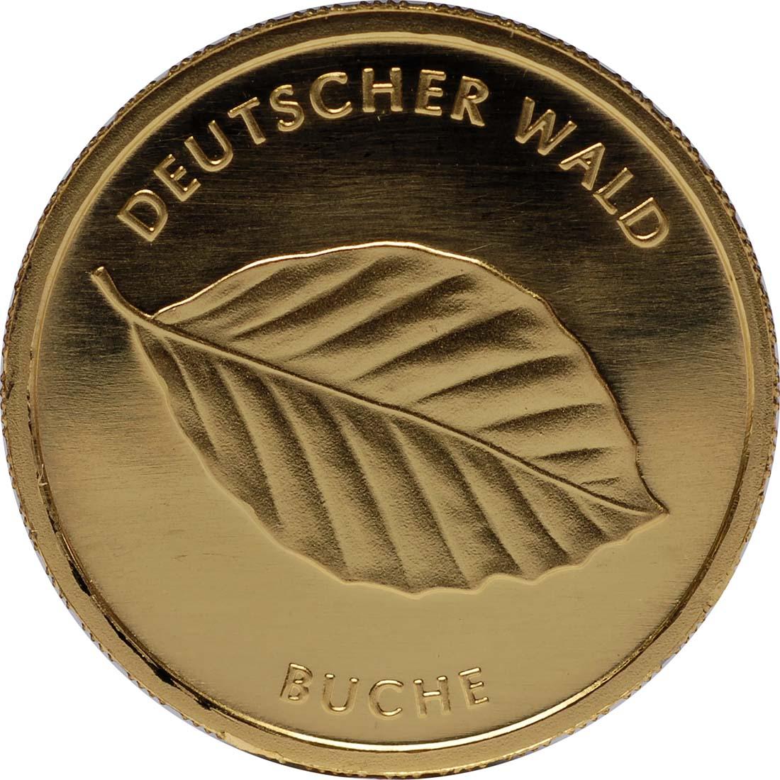 Vorderseite :Deutschland : 20 Euro Buche Buchstabe unserer Wahl  2011 Stgl.