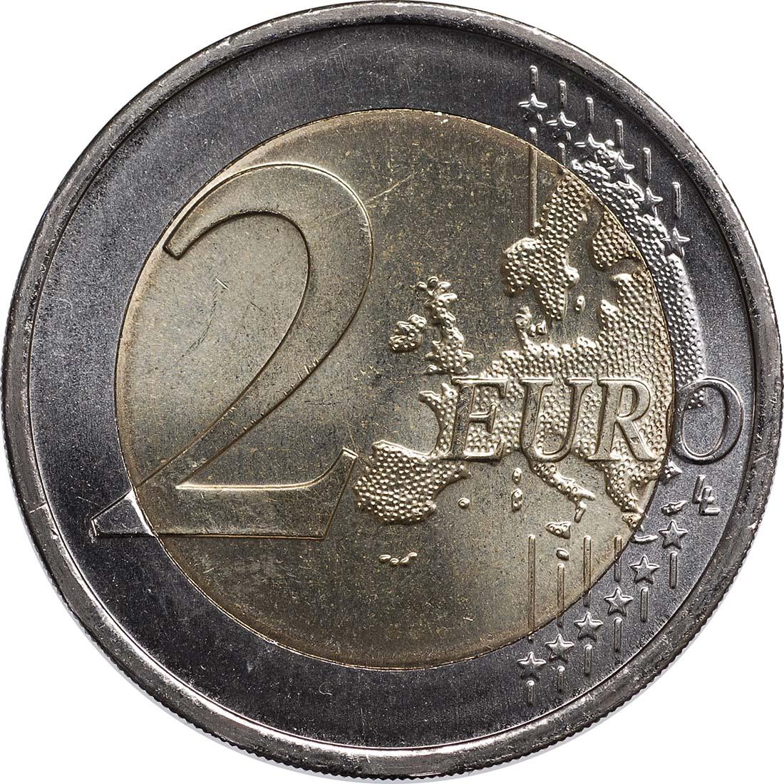 Vorderseite:Deutschland : 2 Euro Nordrhein-Westfalen Kölner Dom Komplettsatz im Originalblister 5 x 2 Euro  2011 Stgl.