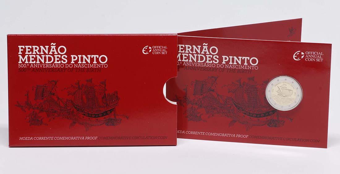 Lieferumfang :Portugal : 2 Euro 500. Geburtstag von Fernao Mendes Pinto  2011 PP