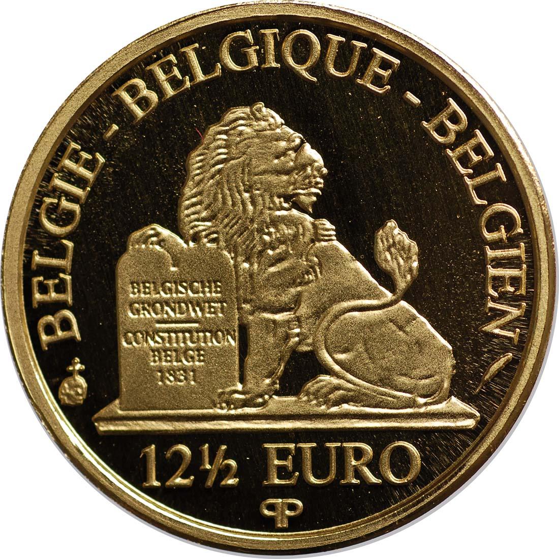 Rückseite:Belgien : 12,5 Euro König Albert II.  2011 PP 12 1/2 Euro Belgien 2011
