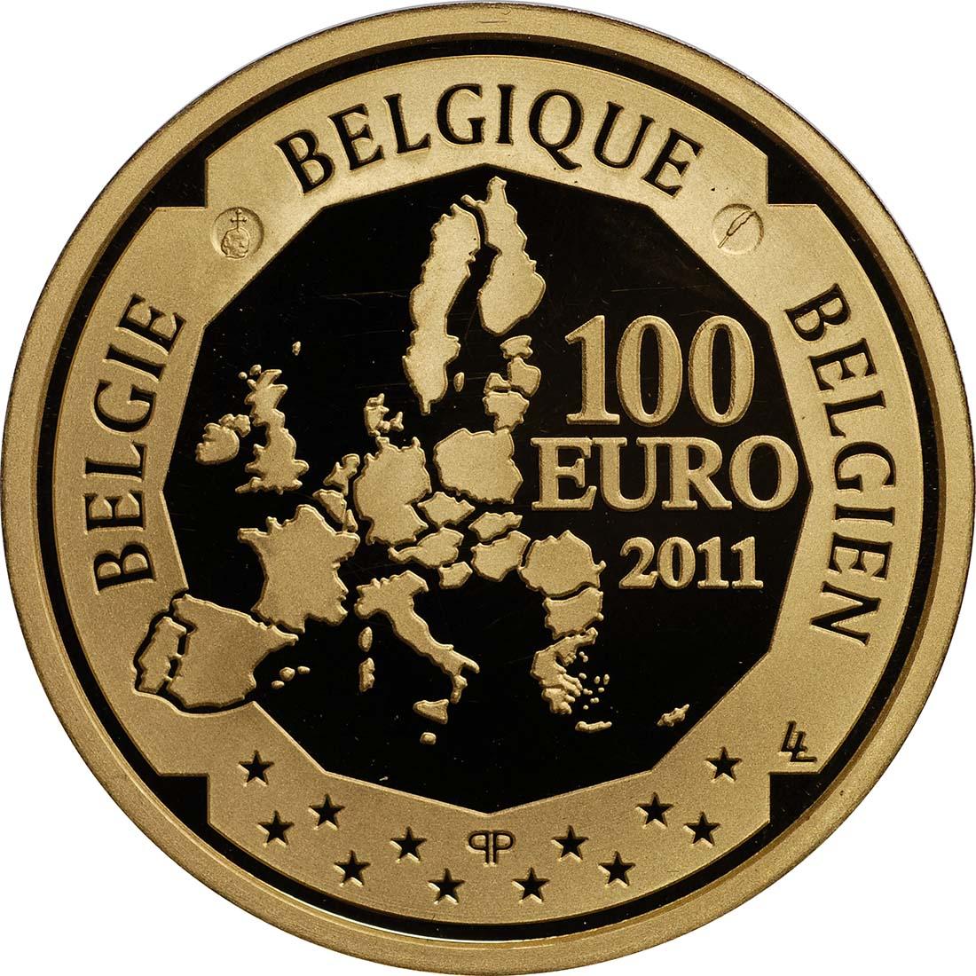 Rückseite:Belgien : 100 Euro 150. Geburtstag Victor Horta  2011 PP 100 Euro Belgien 2011
