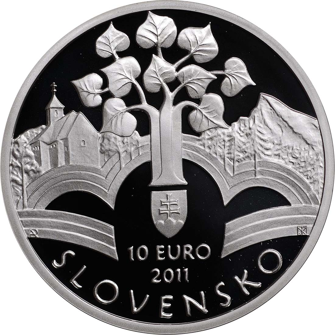 Rückseite:Slowakei : 10 Euro Memorandum  2011 PP