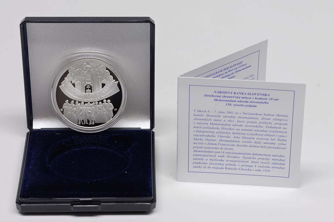 Lieferumfang:Slowakei : 10 Euro Memorandum  2011 PP