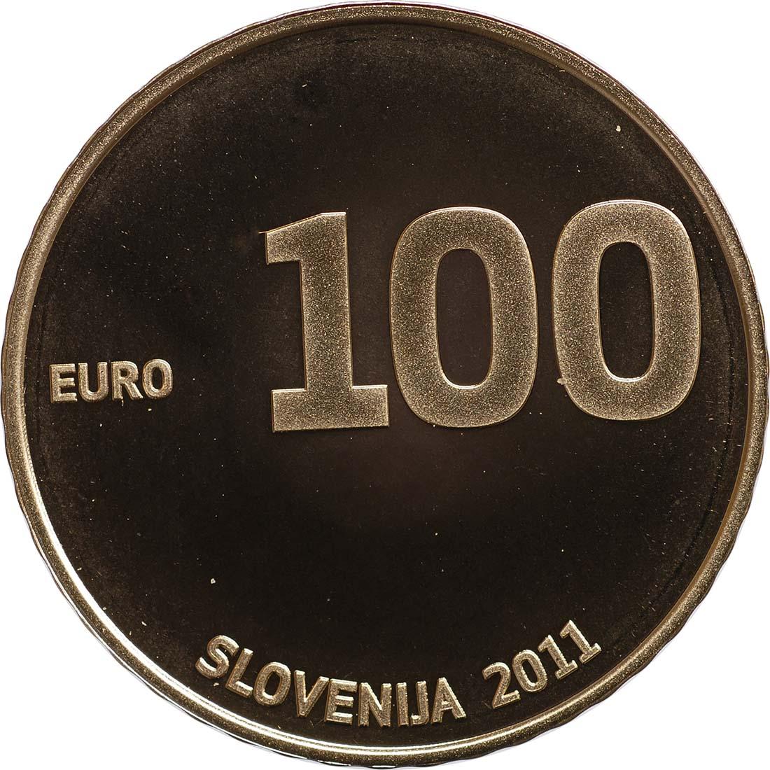 Rückseite:Slowenien : 100 Euro 20 Jahre Unabhängigkeit Sloweniens  2011 PP