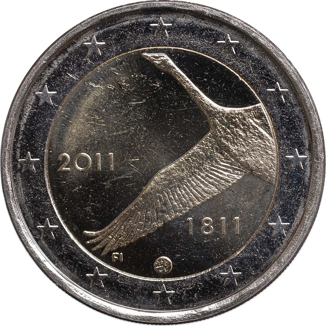 Rückseite :Finnland : 2 Euro 200 Jahre finnische Bank  2011 bfr