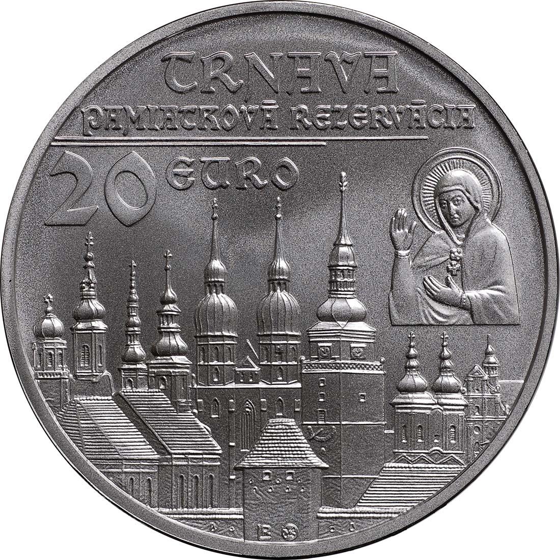 Vorderseite:Slowakei : 20 Euro Trnava  2011 Stgl.