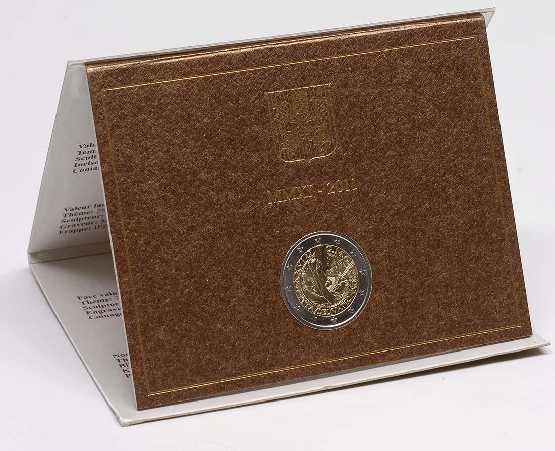 Lieferumfang:Vatikan : 2 Euro Weltjugendtage in Madrid  2011 Stgl.