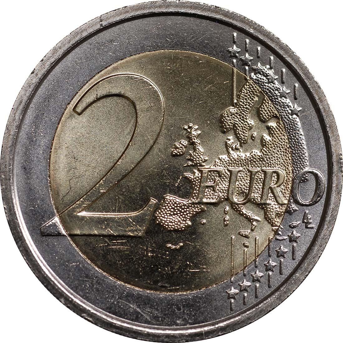 Vorderseite:Vatikan : 2 Euro Weltjugendtage in Madrid  2011 Stgl.