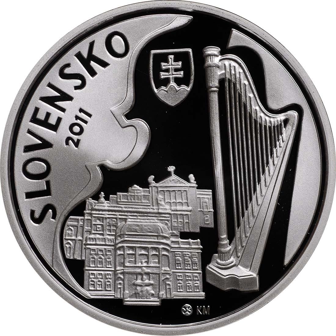 Vorderseite:Slowakei : 10 Euro Jan Cikker  2011 PP