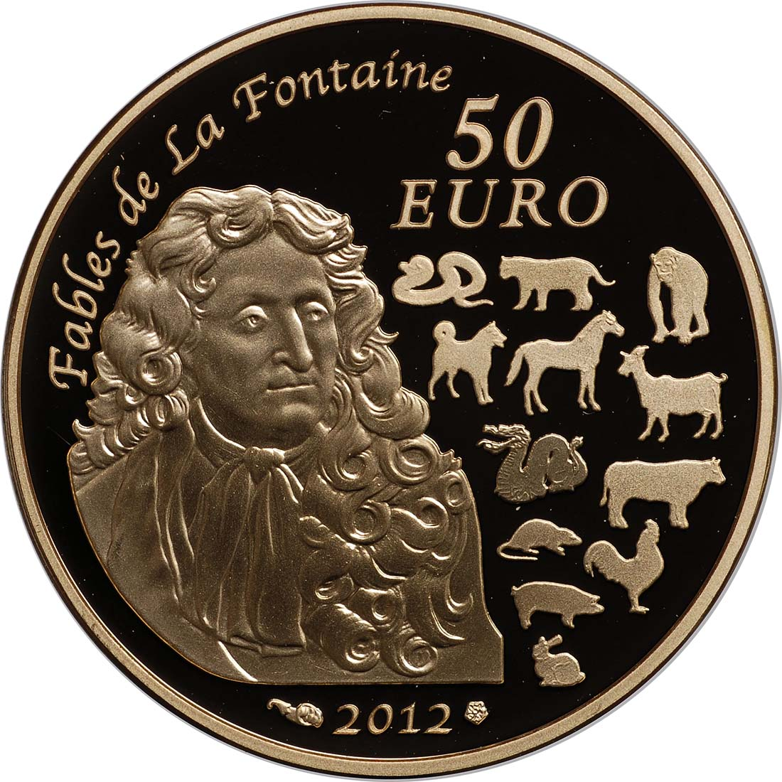 Rückseite:Frankreich : 50 Euro Jahr des Drachen  2012 PP