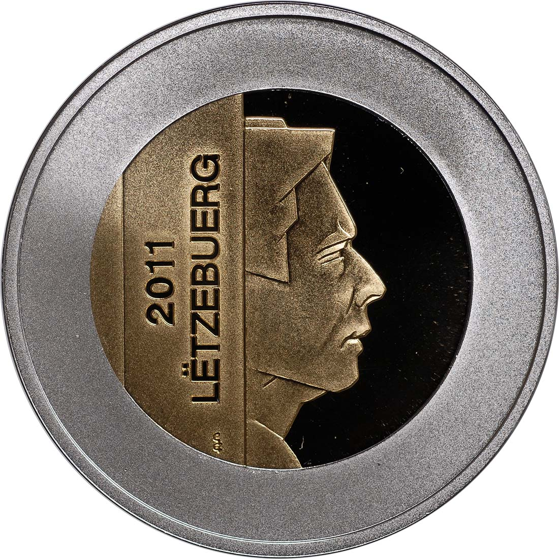 Rückseite:Luxemburg : 5 Euro Fischotter  2011 PP