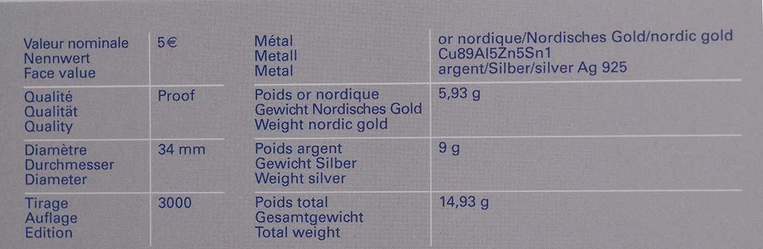 Zertifikat:Luxemburg : 5 Euro Fischotter  2011 PP