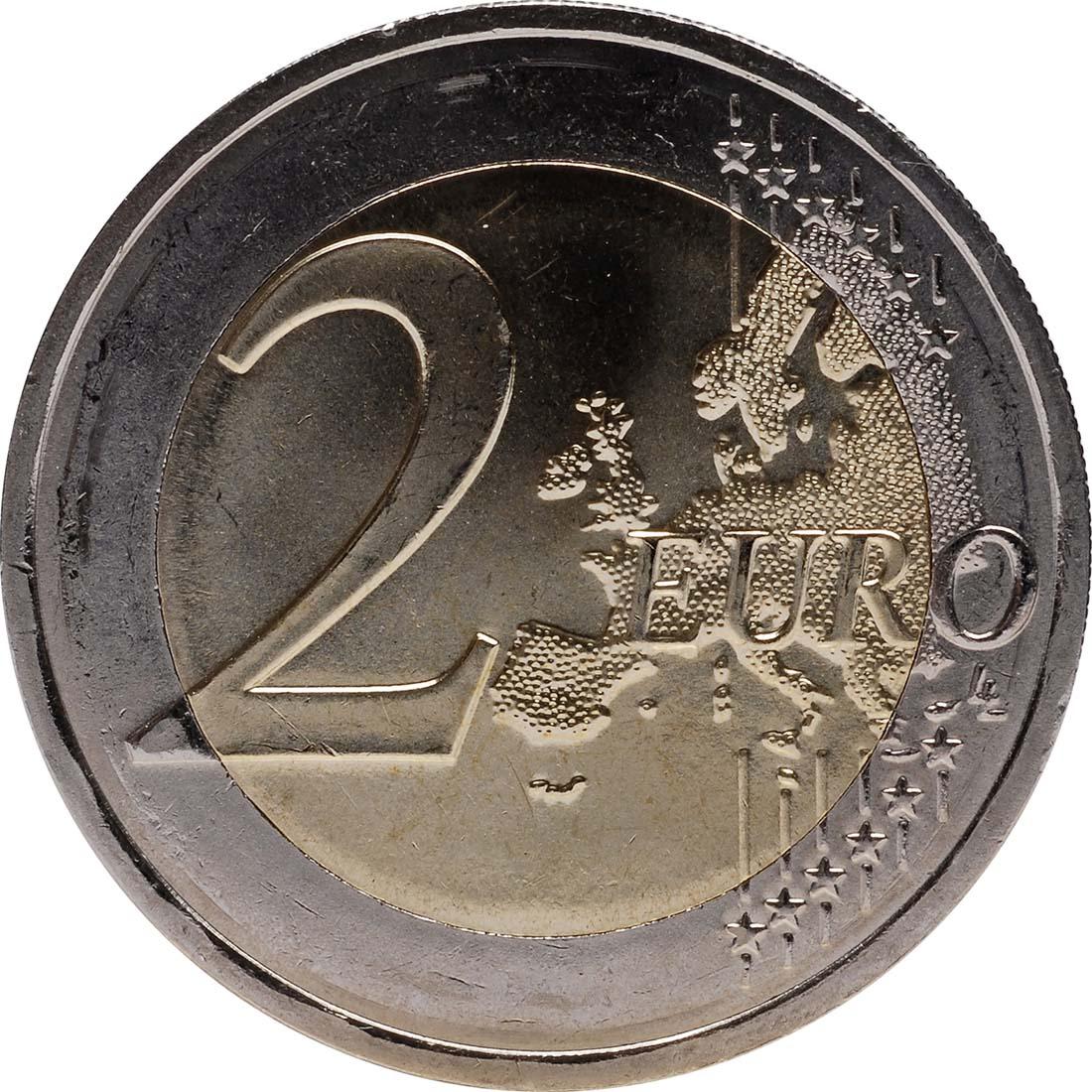 Vorderseite :Frankreich : 2 Euro 10 Jahre Euro Bargeld  2012 bfr