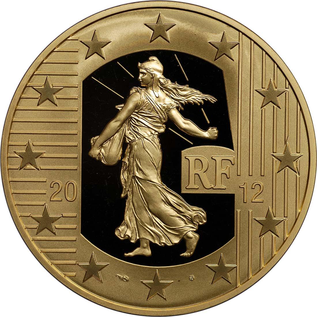 Rückseite:Frankreich : 250 Euro 10 Jahre Euro Bargeld  2012 PP