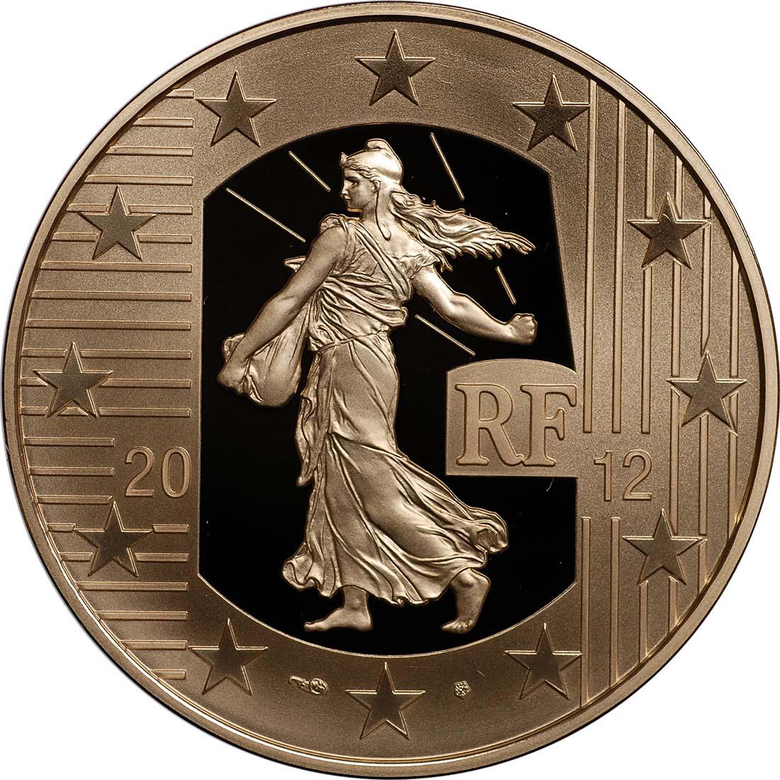 Rückseite:Frankreich : 100 Euro 10 Jahre Euro Bargeld  2012 PP