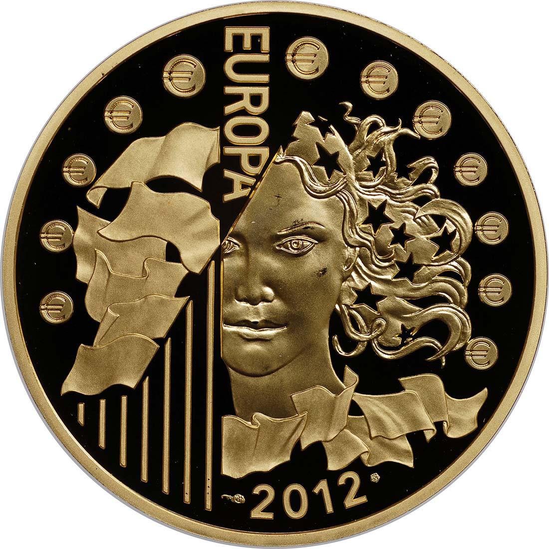 Rückseite:Frankreich : 200 Euro 20 Jahre Eurokorps  2012 PP