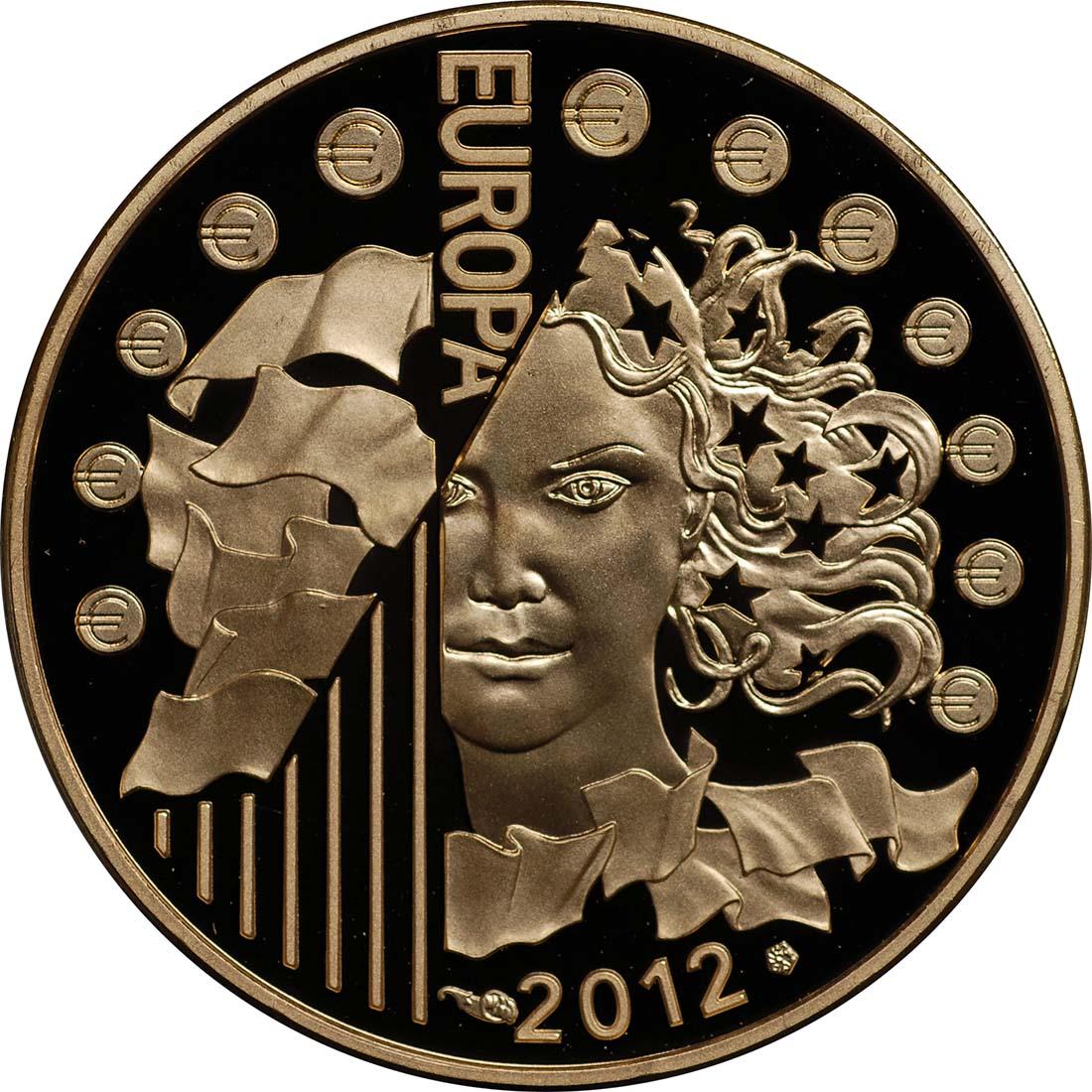 Rückseite:Frankreich : 50 Euro 20 Jahre Eurokorps  2012 PP