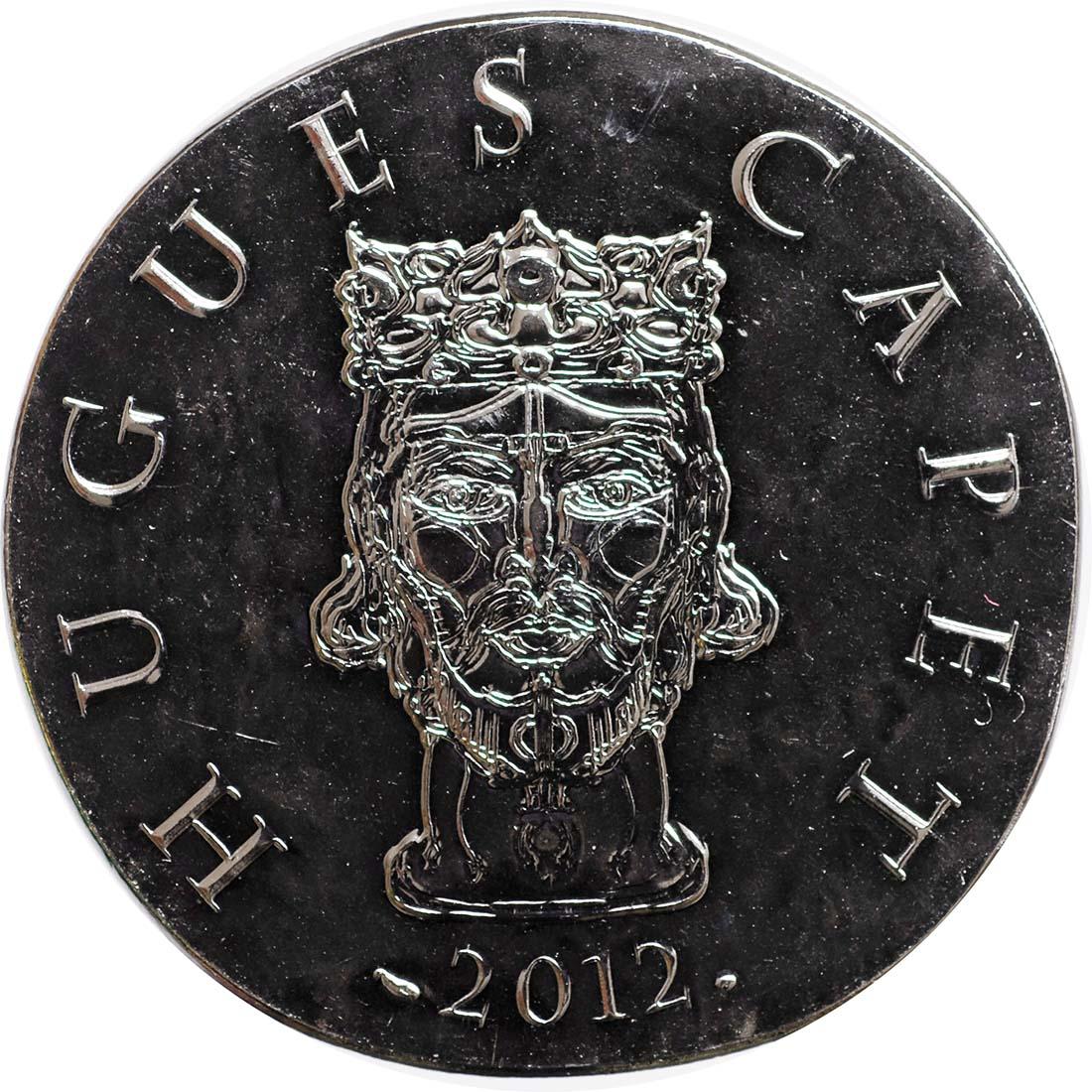 Rückseite:Frankreich : 10 Euro Hugues Capet  2012 Stgl.
