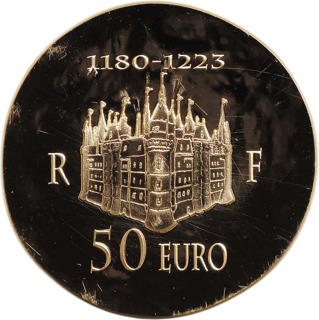 Vorderseite:Frankreich : 50 Euro Philipp II. August  2012 Stgl.