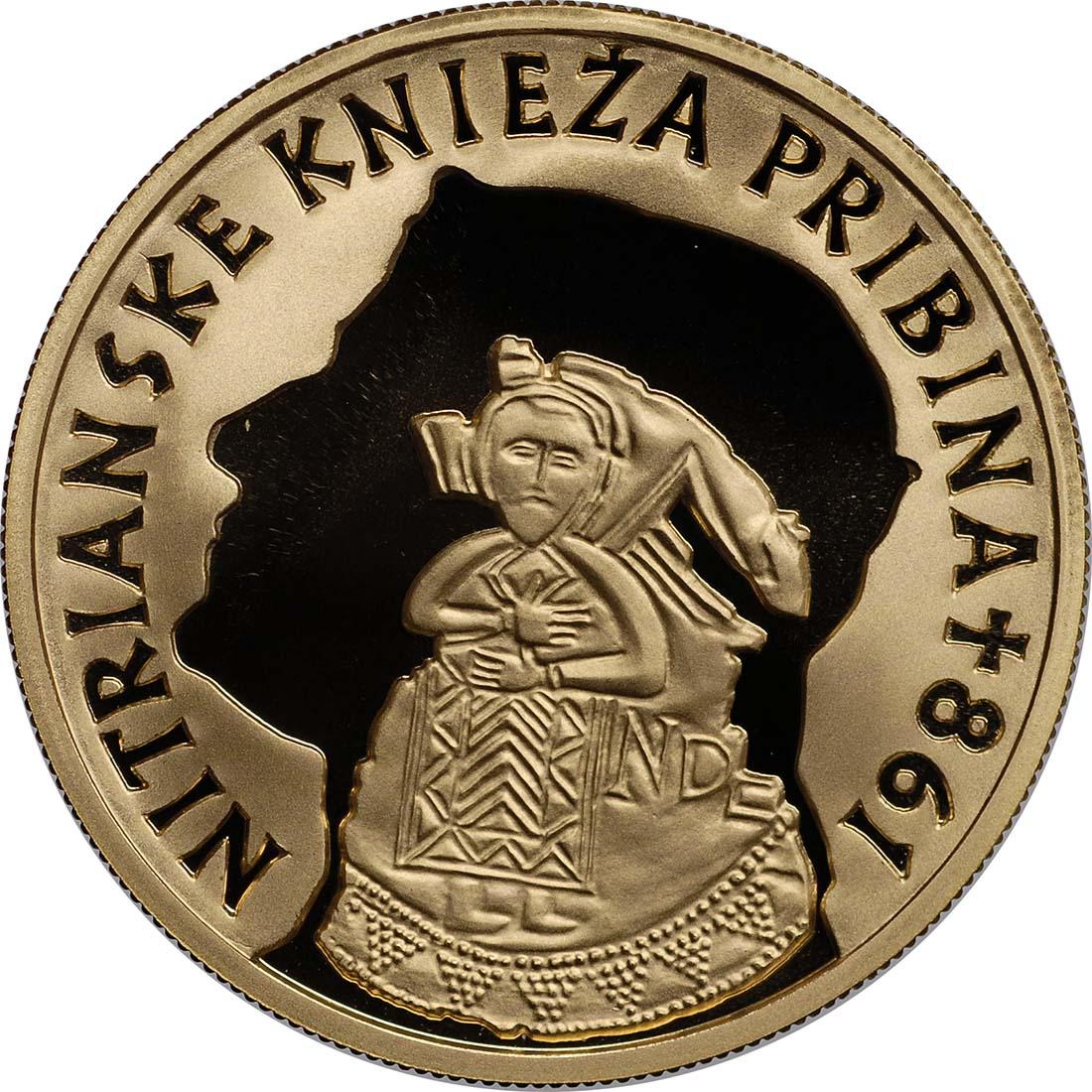 Rückseite:Slowakei : 100 Euro Fürst Pribina von Nitra  2011 PP