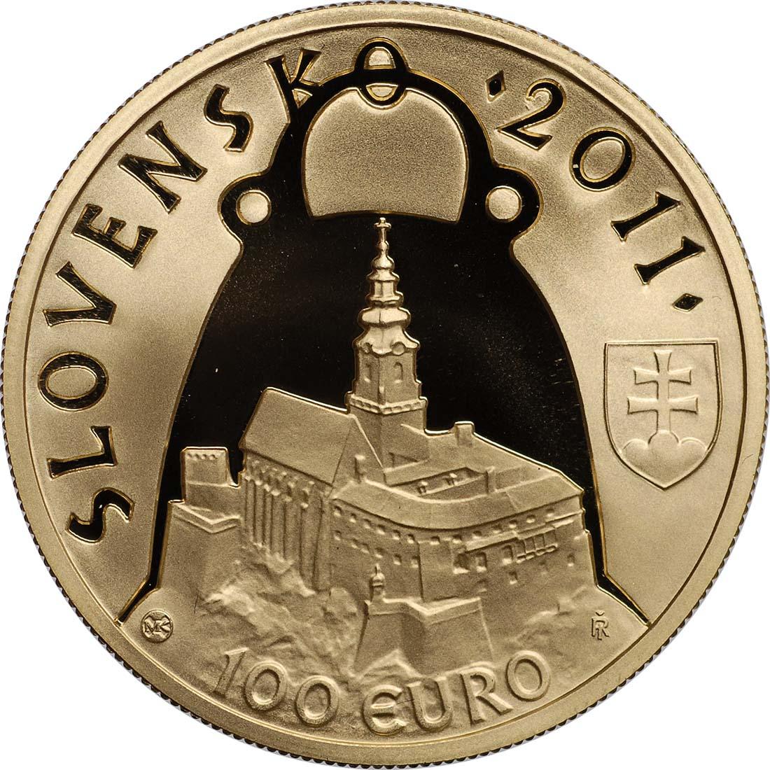 Vorderseite:Slowakei : 100 Euro Fürst Pribina von Nitra  2011 PP