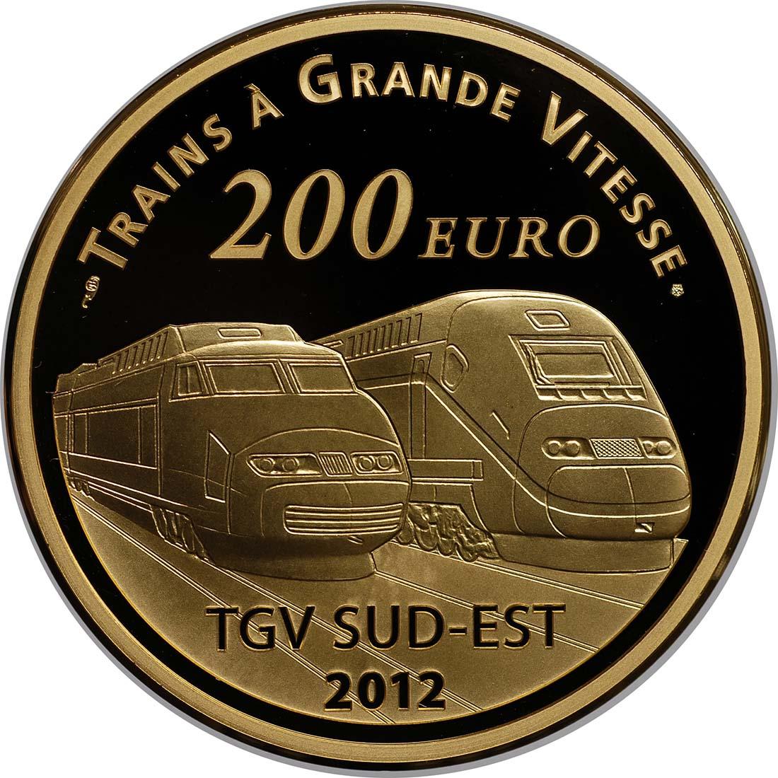 Vorderseite:Frankreich : 200 Euro Lyon St. Exupery  2012 PP