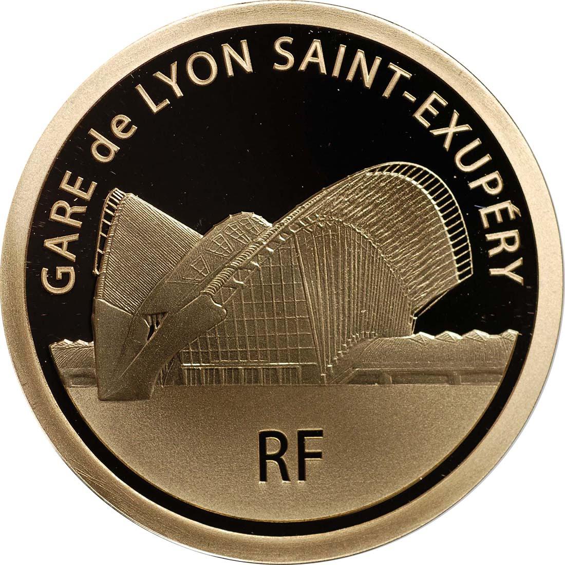 Rückseite:Frankreich : 50 Euro Lyon St. Exupery  2012 PP