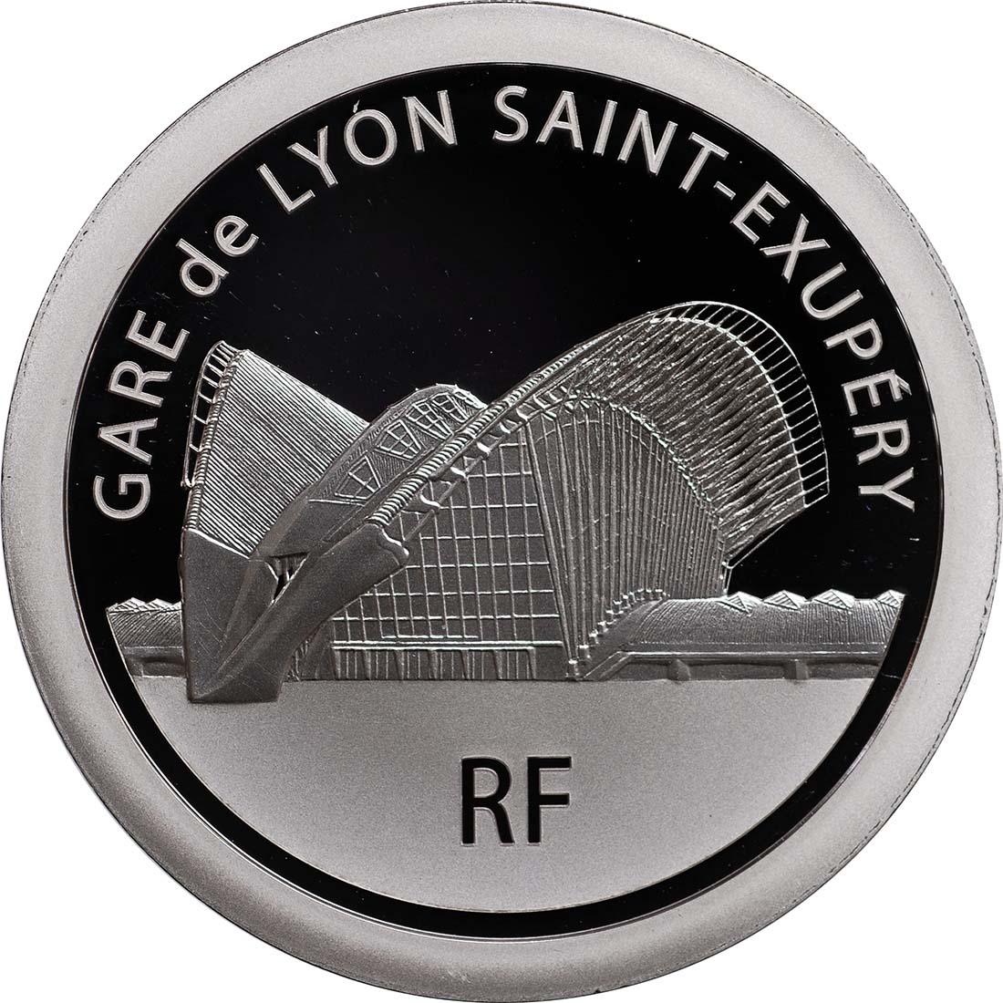 Rückseite:Frankreich : 20 Euro Lyon St. Exupery  2012 PP
