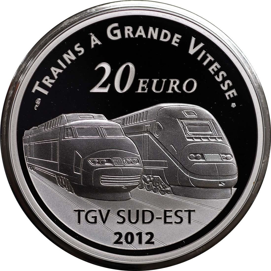 Vorderseite:Frankreich : 20 Euro Lyon St. Exupery  2012 PP