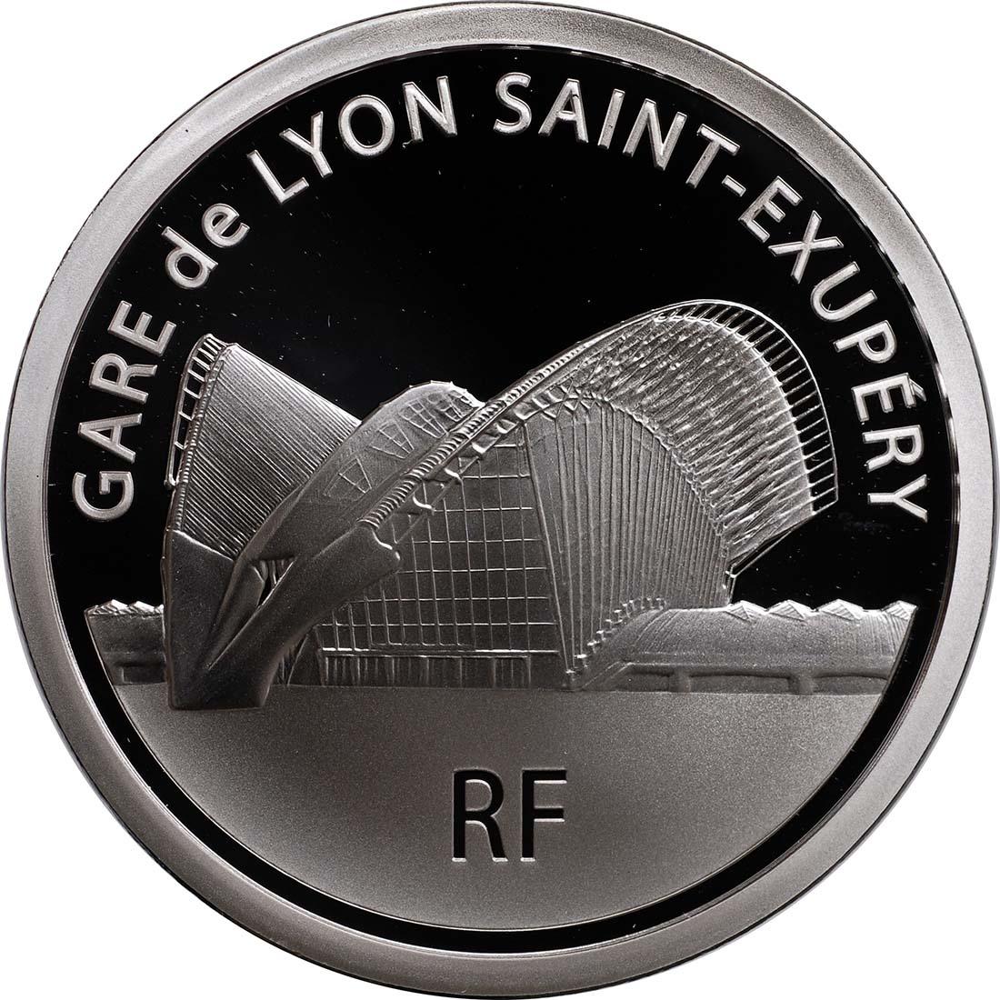 Rückseite:Frankreich : 10 Euro Lyon St. Exupery  2012 PP