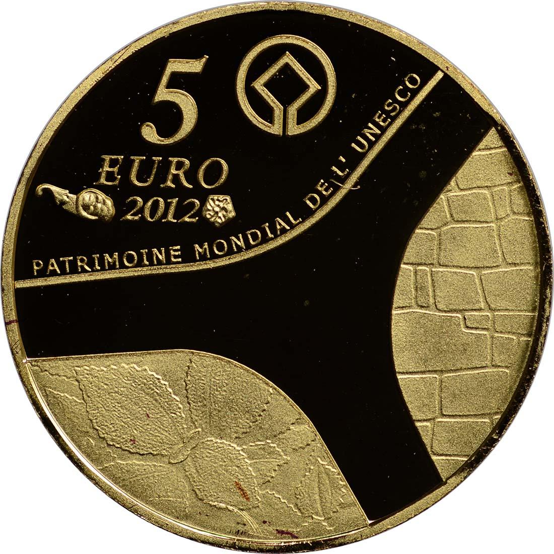 Rückseite:Frankreich : 5 Euro Pyramide, Sphinx, Abu Simbel  2012 PP