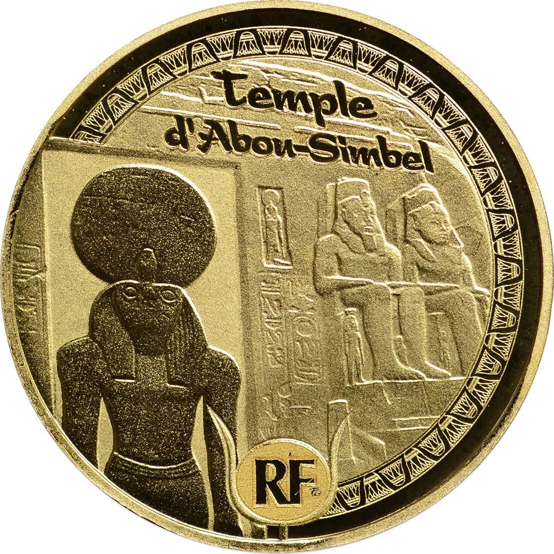 Vorderseite:Frankreich : 5 Euro Pyramide, Sphinx, Abu Simbel  2012 PP