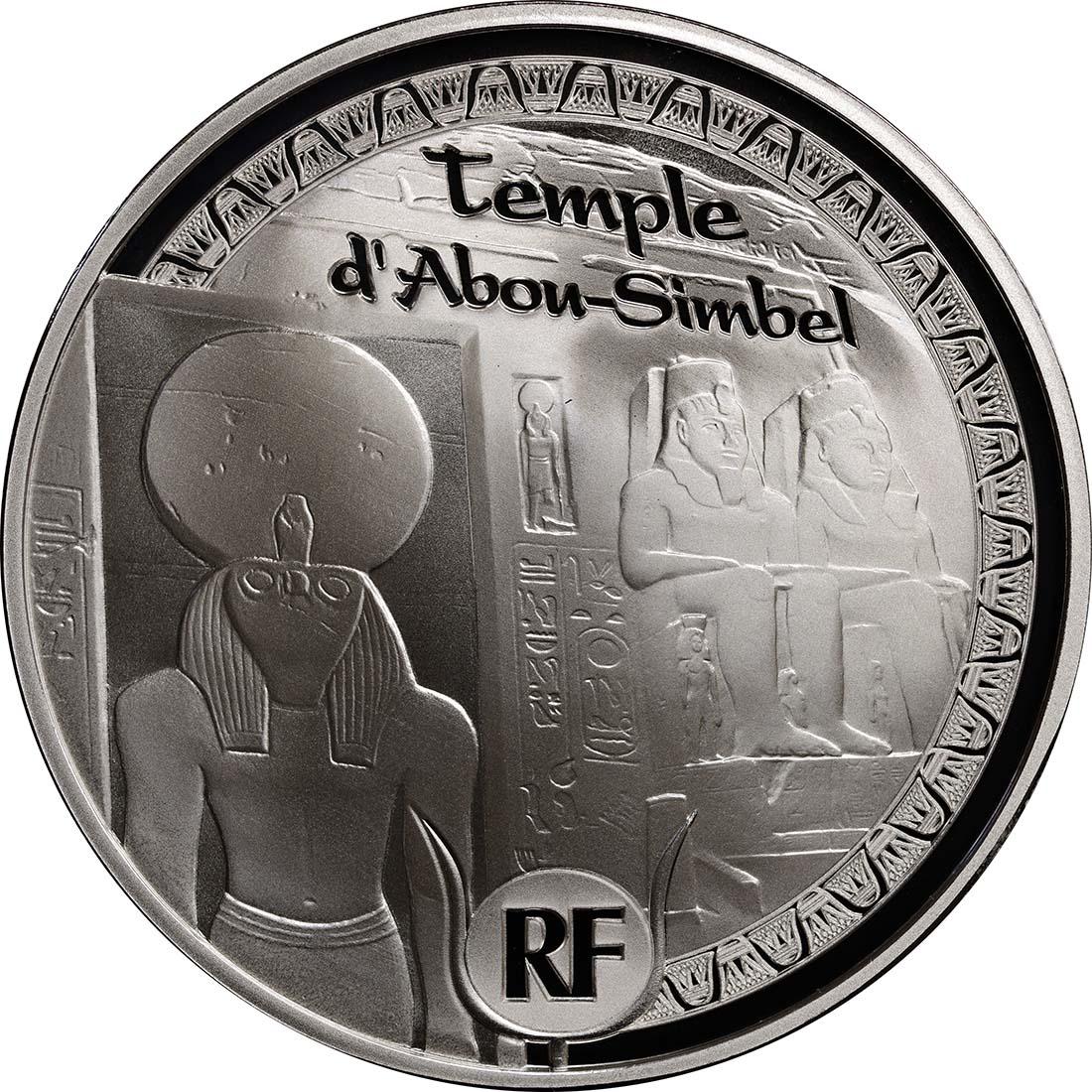 Vorderseite:Frankreich : 10 Euro Pyramide, Sphinx, Abu Simbel  2012 PP