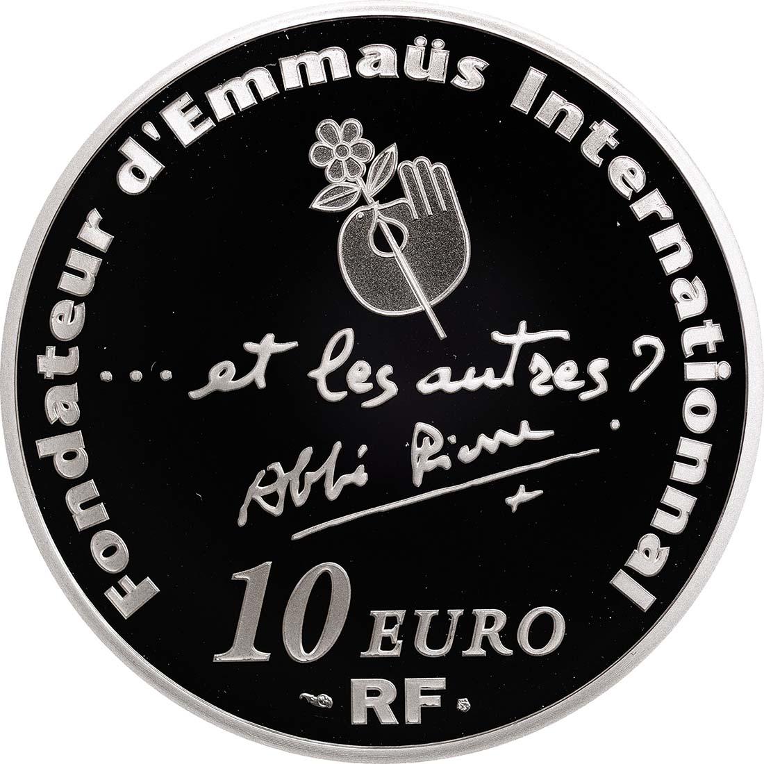 Rückseite:Frankreich : 10 Euro Abbé Pierre  2012 PP