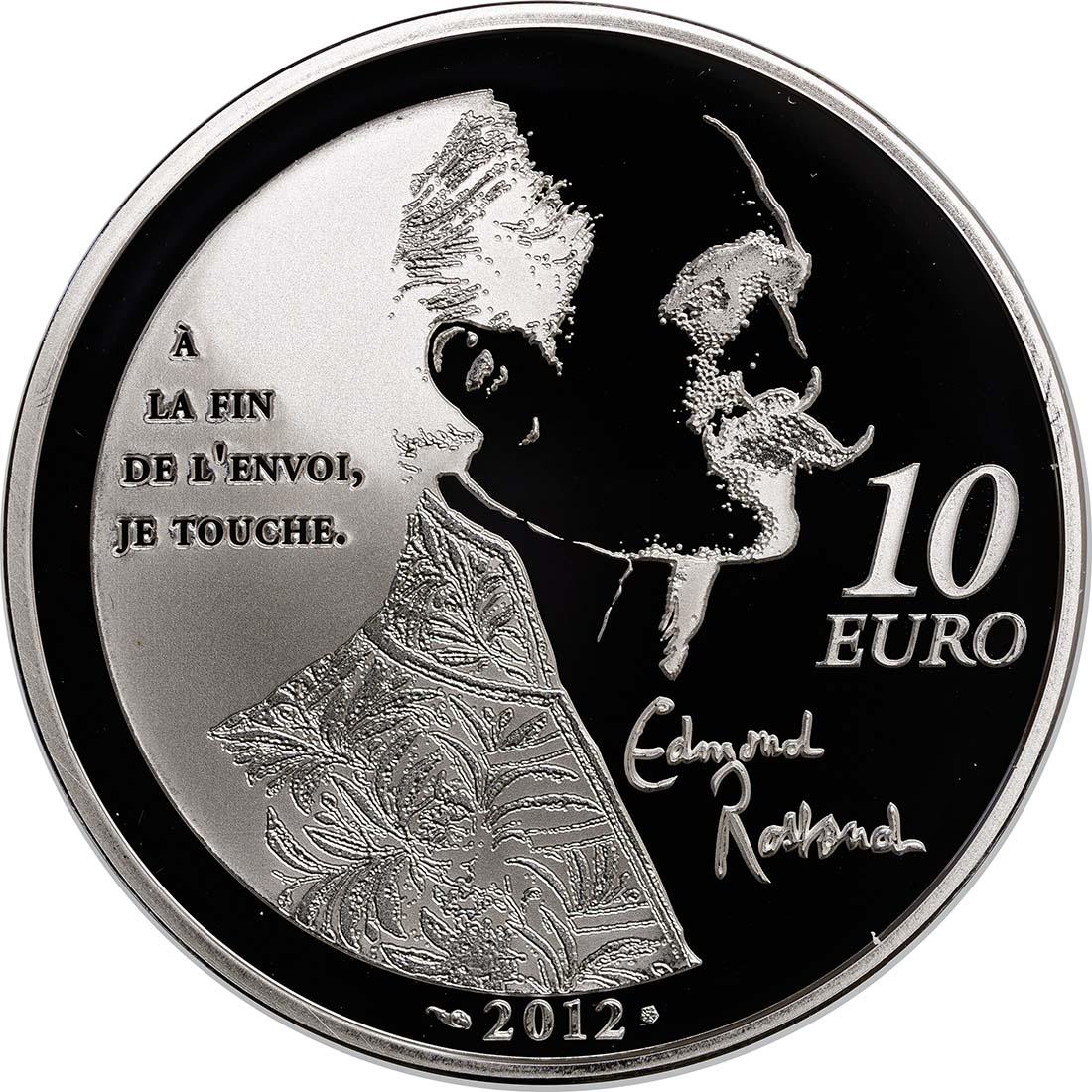 Rückseite :Frankreich : 10 Euro Cyrano de Bergerac  2012 PP