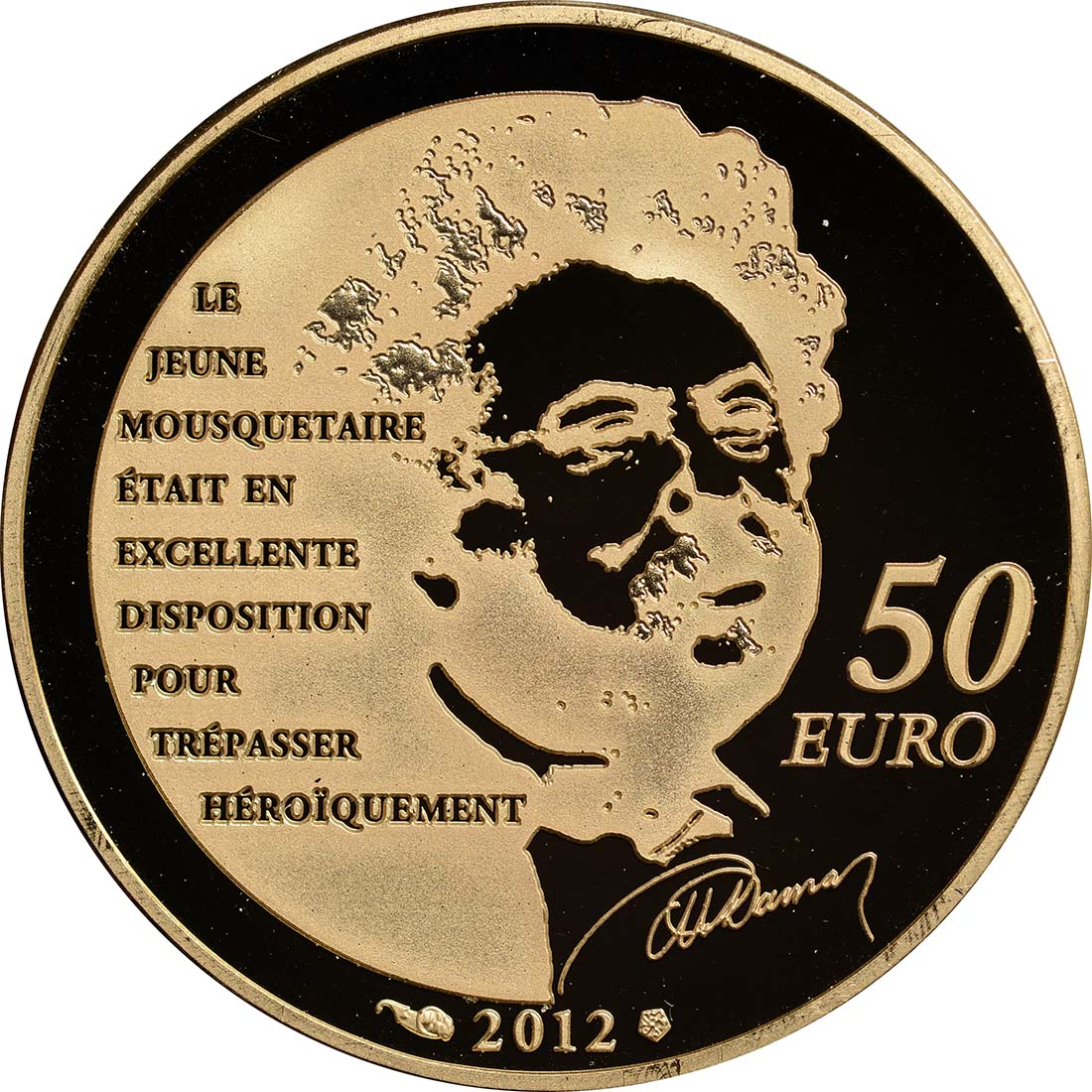 Rückseite:Frankreich : 50 Euro D'Artagnan  2012 PP