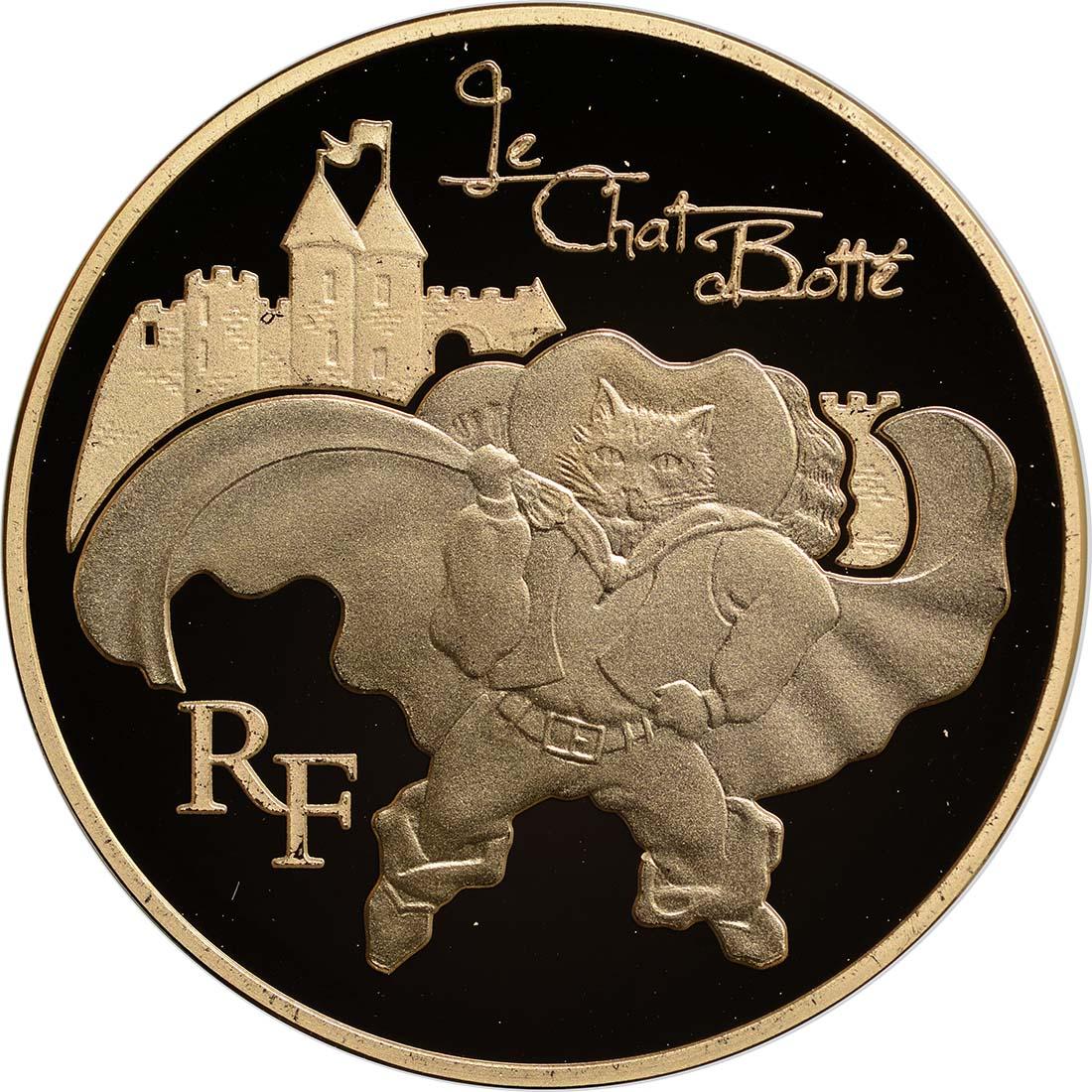 Vorderseite :Frankreich : 50 Euro Gestiefelter Kater  2012 PP