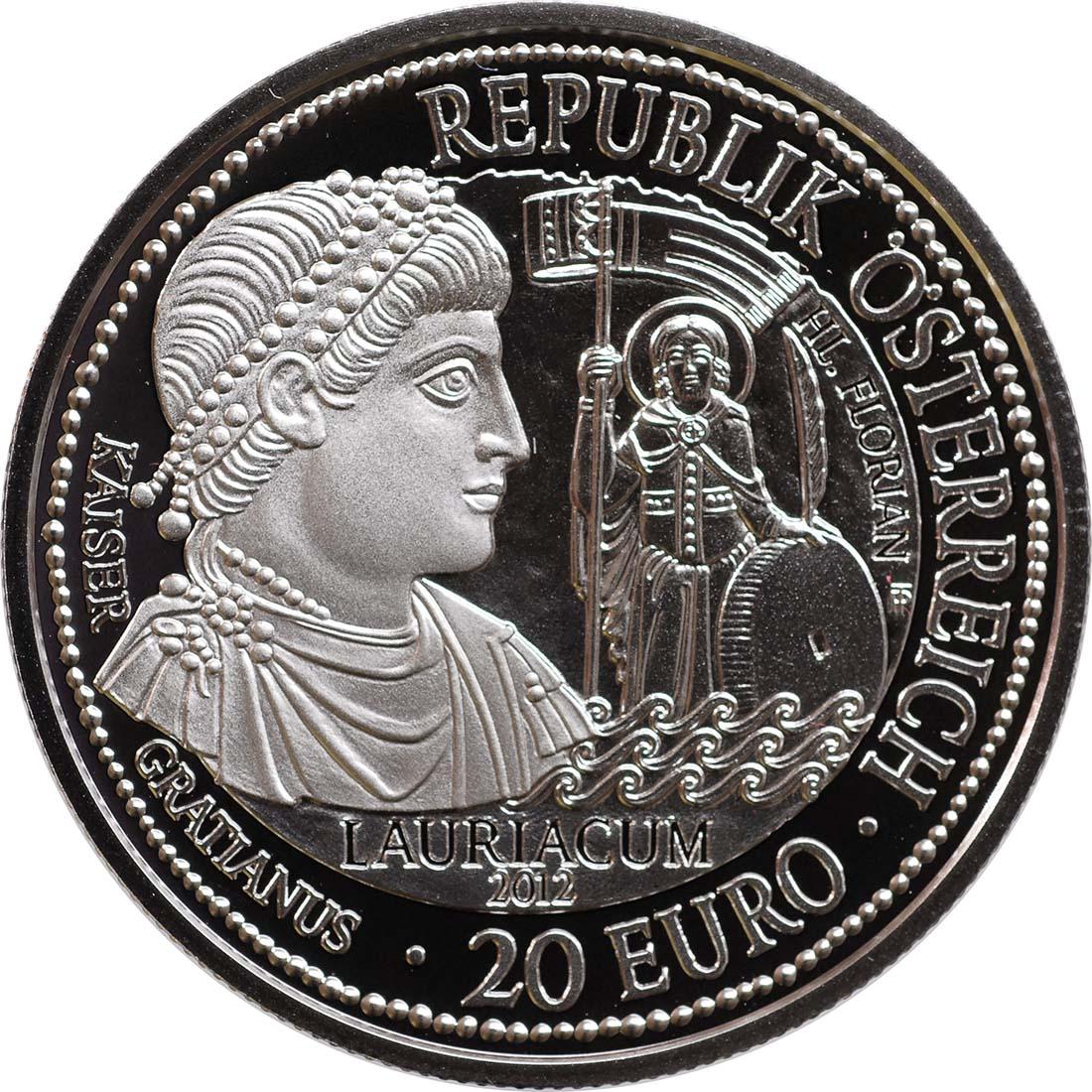 Rückseite:Österreich : 20 Euro Lauriacum  2012 PP