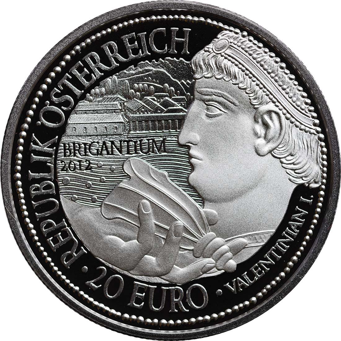 Rückseite:Österreich : 20 Euro Brigantium  2012 PP
