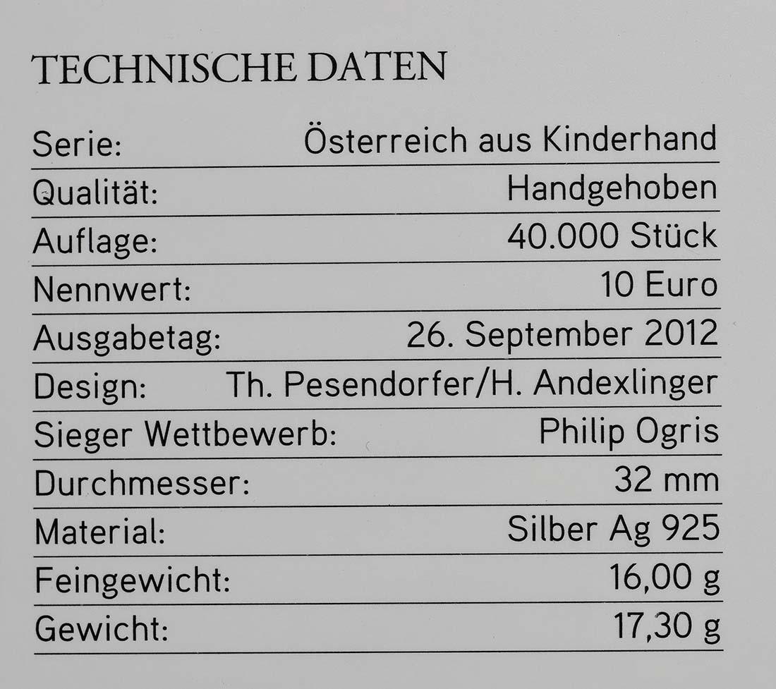 Zertifikat:Österreich : 10 Euro Kärnten  2012 Stgl.