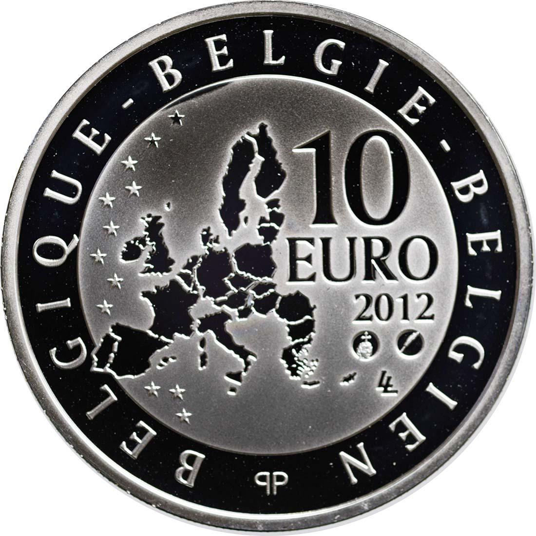 Rückseite:Belgien : 10 Euro De Coubertin  2012 PP