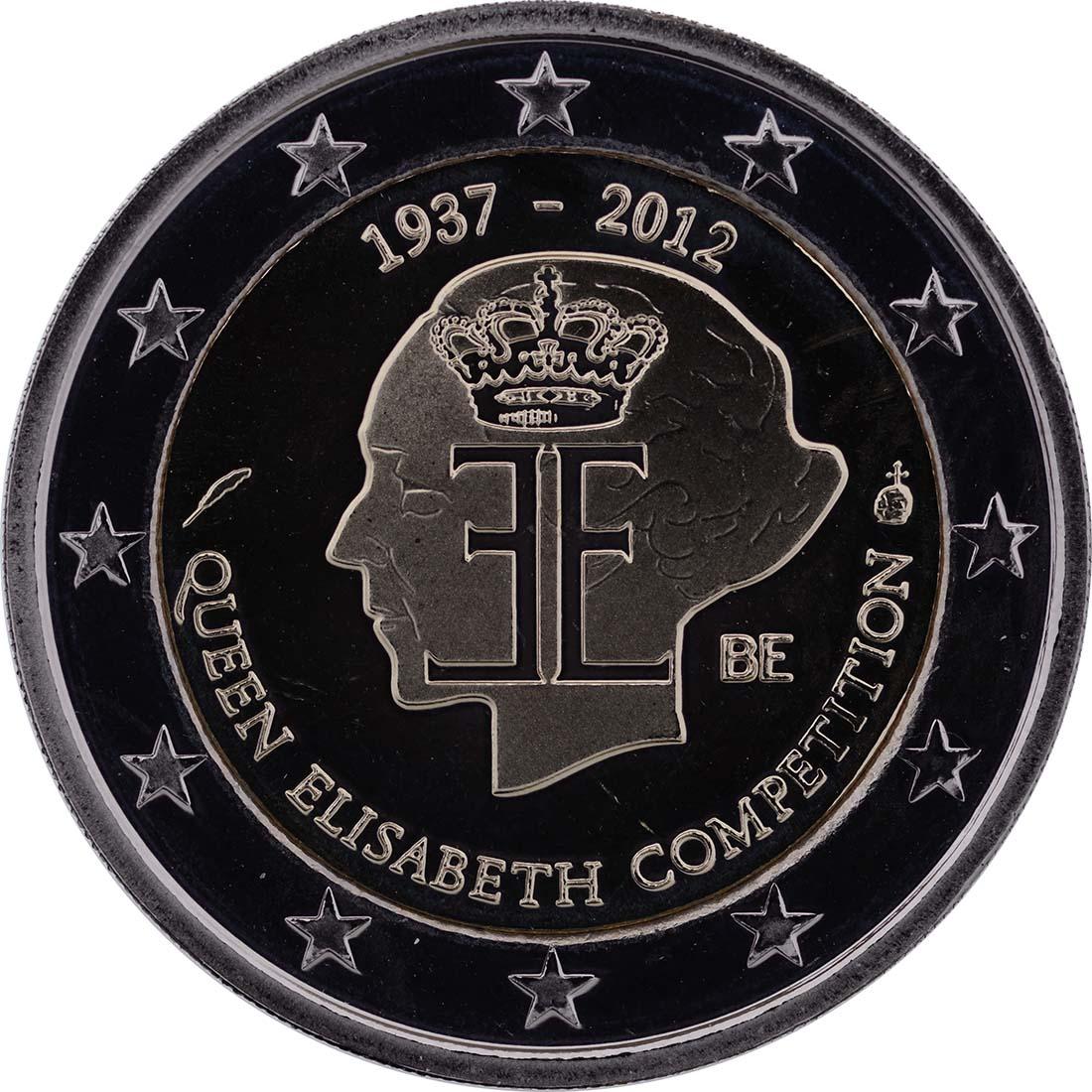 Rückseite :Belgien : 2 Euro 75 J. Königin-Elisabeth Internationaler Musik Wettbewerb  2012 PP